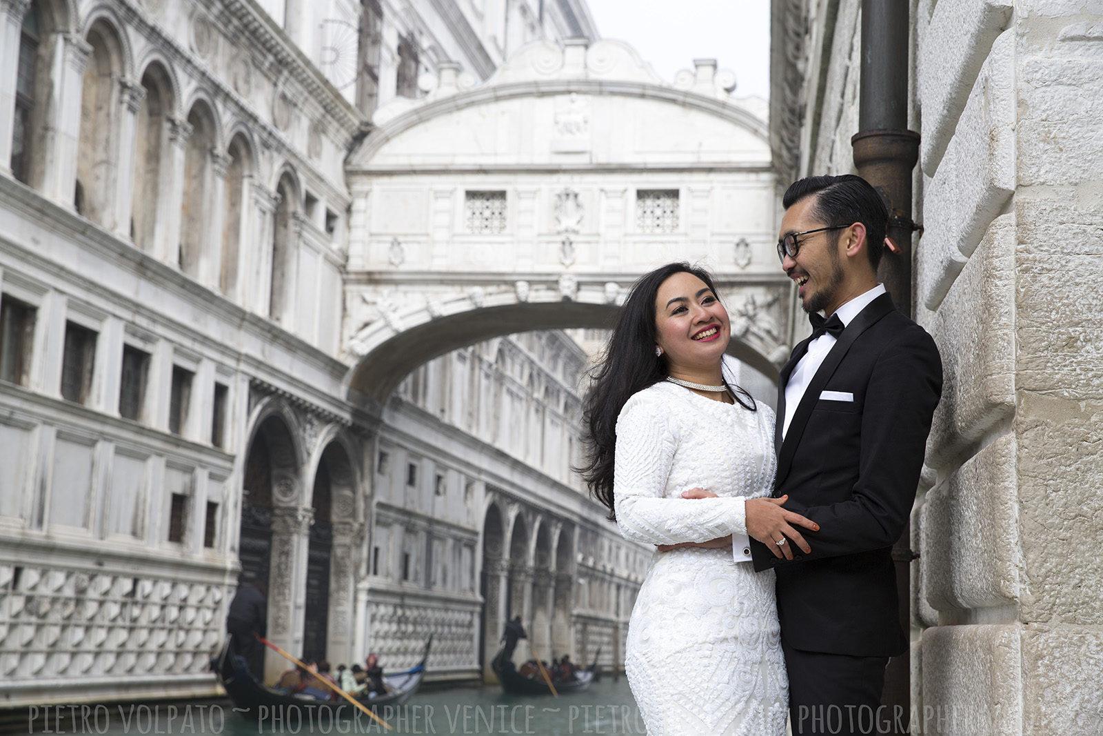 venezia fotografo per servizio foto sposi in luna di miele