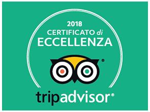 tripadvisor certificato di eccellenza 2018