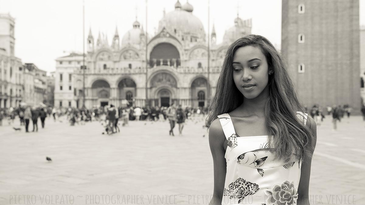 venezia servizio foto modella