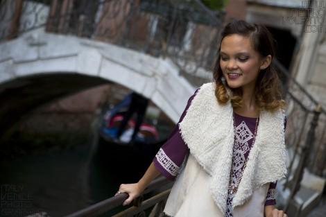 Fotografo a Venezia per servizio foto modella